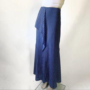 Banana Republic Micro Stripe Ruffle Maxi Skirt